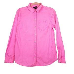 Gap Hot Pink Boyfriend Fit Button Down